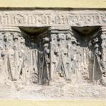 Mittelalterliche Bauinschrift an der Kirche St. Burkhard Hohenfelden