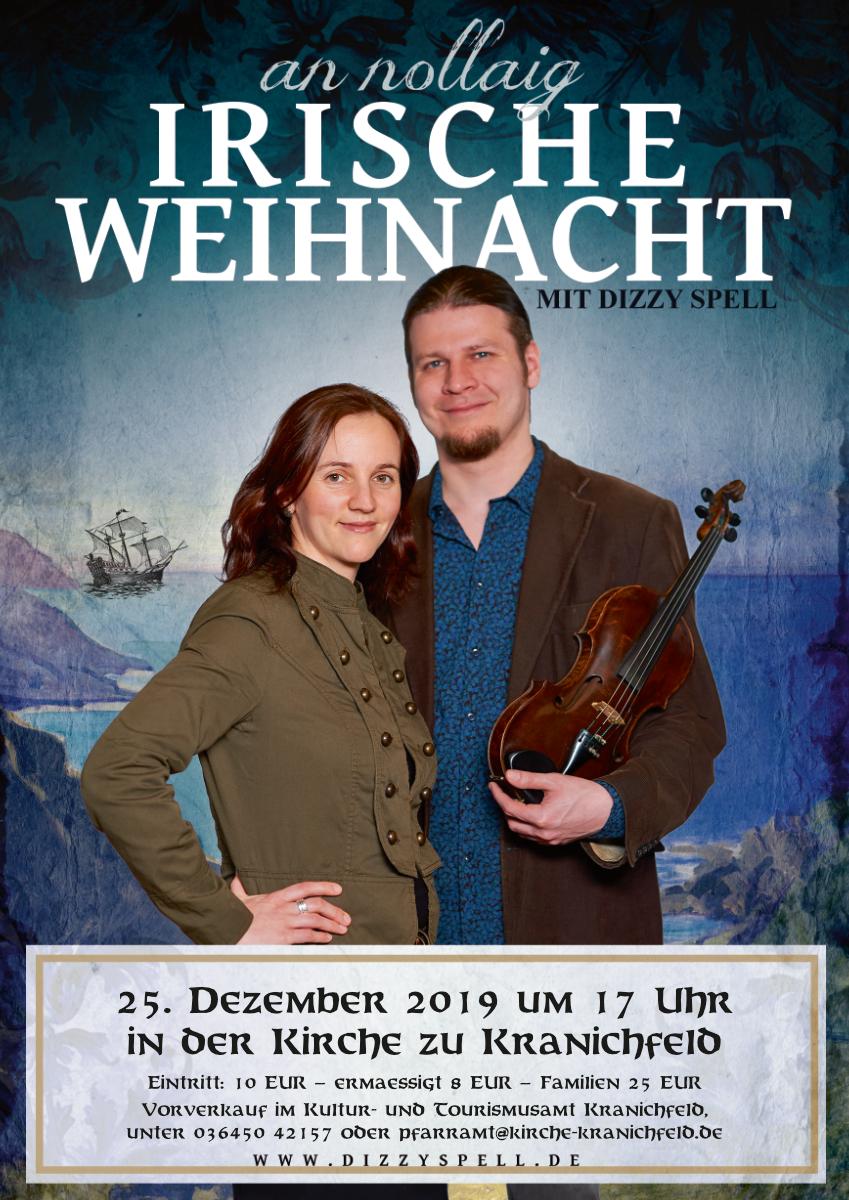 Weihnachtskonzert 2019 in Kranichfeld mit Dizzy Spell